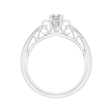 Load image into Gallery viewer, 14K White Gold Round Diamond Solitaire Engagement Ring