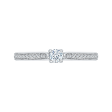 Load image into Gallery viewer, 14k white gold round diamond engagement ring (semi-mount)