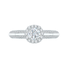 Load image into Gallery viewer, round diamond engagement ring in 14k white gold (semi-mount)