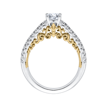 Load image into Gallery viewer, 14K Two-Tone Gold Round Cut Diamond Engagement Ring