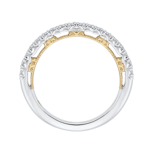 Load image into Gallery viewer, Round Diamond Half-Eternity Wedding Band In 14K Two-Tone Gold