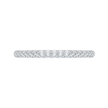 Load image into Gallery viewer, 14k two-tone gold round diamond half-eternity wedding band with euro shank