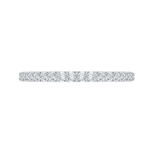 Load image into Gallery viewer, 14k white gold round half-eternity diamond wedding band
