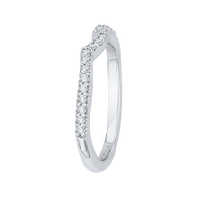 Load image into Gallery viewer, Round Diamond Half-Eternity Wedding Band In 14K White Gold