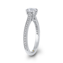 Load image into Gallery viewer, 14K White Gold Round Diamond Classic Engagement Ring