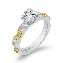 Load image into Gallery viewer, Round Cut Diamond Engagement Ring In 14K Two-Tone Gold