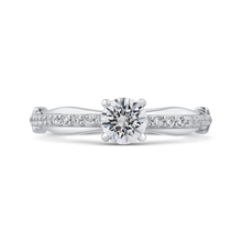 Load image into Gallery viewer, 14k white gold solitaire engagement ring with euro shank  (semi-mount)