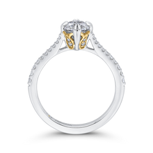 Load image into Gallery viewer, 14K Two Tone Gold Round Cut Diamond Engagement Ring