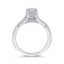 Load image into Gallery viewer, 14K White Gold Round Diamond Criss-Cross Engagement Ring