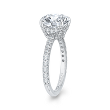 Load image into Gallery viewer, 18K White Gold Round Diamond Engagement Ring (Semi-Mount)