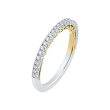 Load image into Gallery viewer, 18K Two-Tone Gold Round Diamond Wedding Band