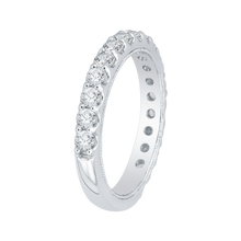Load image into Gallery viewer, 18K White Gold Round Diamond Wedding Band