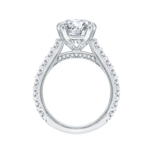 Load image into Gallery viewer, Round Cut Diamond Engagement Ring In 18K White Gold (Semi-Mount)