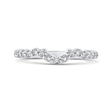 Load image into Gallery viewer, 14k white gold princess diamond halo engagement ring with split shank (semi-mount)