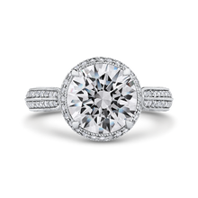 Load image into Gallery viewer, 14k white gold princess diamond engagement ring with split shank (semi-mount)