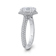 Load image into Gallery viewer, Round Diamond Engagement Ring In 18K White Gold (Semi-Mount)