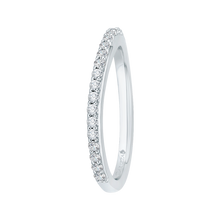 Load image into Gallery viewer, Round Diamond Wedding Band In 18K White Gold