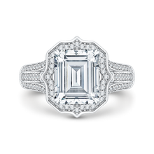 Load image into Gallery viewer, cushion diamond engagement ring in 14k white gold (semi-mount)