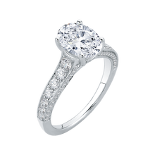 Load image into Gallery viewer, Oval Diamond Engagement Ring In 18K White Gold (Semi-Mount)