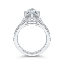 Load image into Gallery viewer, 18K White Gold Marquise Diamond Engagement Ring (Semi-Mount)
