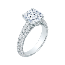 Load image into Gallery viewer, Cushion Diamond Engagement Ring In 18K White Gold (Semi-Mount)