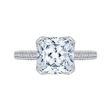 Load image into Gallery viewer, 14k white gold cushion diamond engagement ring with split shank (semi-mount)