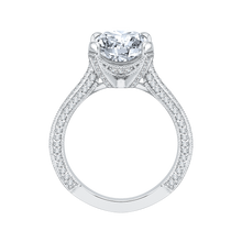 Load image into Gallery viewer, Cushion Cut Diamond Engagement Ring In 18K White Gold (Semi-Mount)