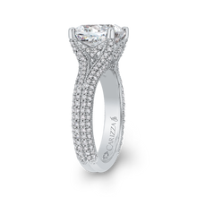 Load image into Gallery viewer, 18K White Gold Cushion Diamond Engagement Ring (Semi-Mount)