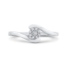 Load image into Gallery viewer, cushion diamond double halo cathedral style engagement ring in 14k white gold (semi-mount)