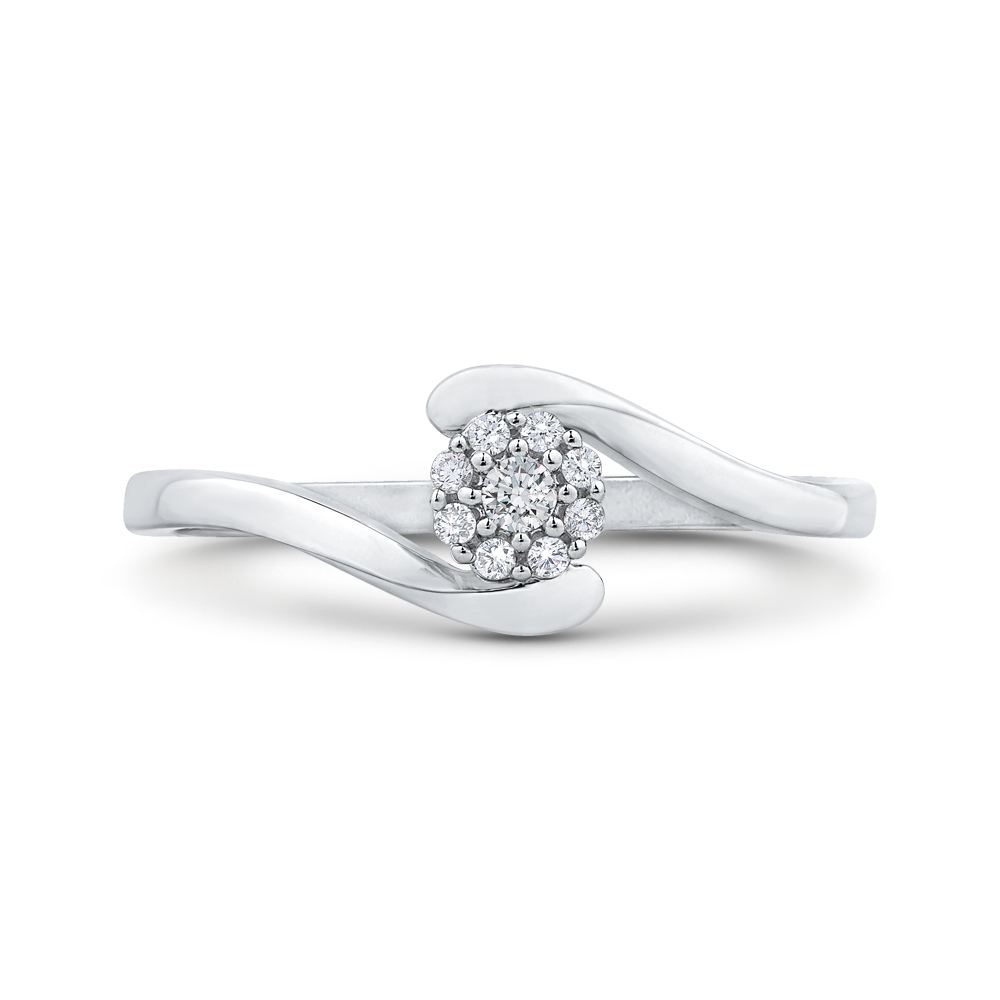 cushion diamond double halo cathedral style engagement ring in 14k white gold (semi-mount)