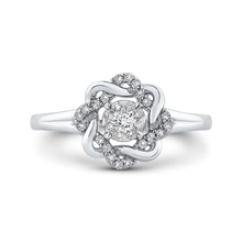 Load image into Gallery viewer, 14k white gold cushion diamond halo engagement ring (semi-mount)