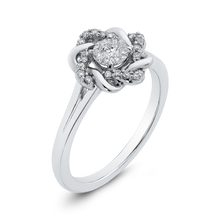 Load image into Gallery viewer, 10K White Gold 1/5 Ct Diamond Fashion Ring