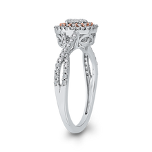Load image into Gallery viewer, 10K White & Rose Gold 1/2 Ct Diamond Fashion Ring