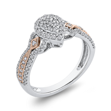 Load image into Gallery viewer, 1/2 ct Round Diamond 10K Two-Tone Gold Fashion Ring