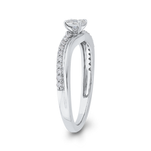 Load image into Gallery viewer, 10K White Gold 1/4 ct Round Diamond Halo Fashion Ring
