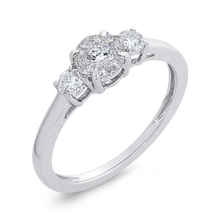 Load image into Gallery viewer, 3/8 ct White Diamond 10K White Gold Fashion Ring