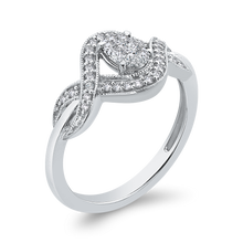 Load image into Gallery viewer, 10K White Gold 1/4 ct Round Diamond Infinity Fashion Ring