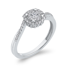 Load image into Gallery viewer, 1/3 ct Round Diamond 10K White Gold Fashion Promise Ring