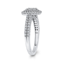 Load image into Gallery viewer, 10K White Gold 2/3 ct White Diamond Cluster Fashion Ring