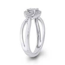 Load image into Gallery viewer, 10K White Gold 1/3 ct Round White Diamond Fashion Ring