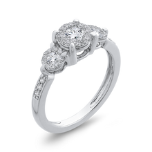 Load image into Gallery viewer, 10K White Gold 2/3 ct Round Diamond Fashion Ring