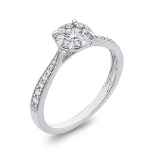 Load image into Gallery viewer, 10K White Gold 3/8 ct Round Diamond Fashion Halo Ring