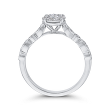 Load image into Gallery viewer, 3/8 ct Round Diamond 10K White Gold Fashion Halo Ring