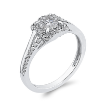 Load image into Gallery viewer, 1/3 ct Round Diamond 10K White Gold Fashion Ring
