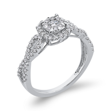 Load image into Gallery viewer, 1/2 ct Round White Diamond 10K White Gold Fashion Ring