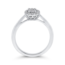 Load image into Gallery viewer, 10K White Gold Round 1/3 ct White Diamond Cluster Fashion Ring