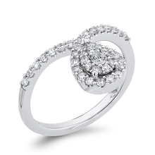 Load image into Gallery viewer, 10K White Gold 1/2 ct White Round Diamond Fashion Ring