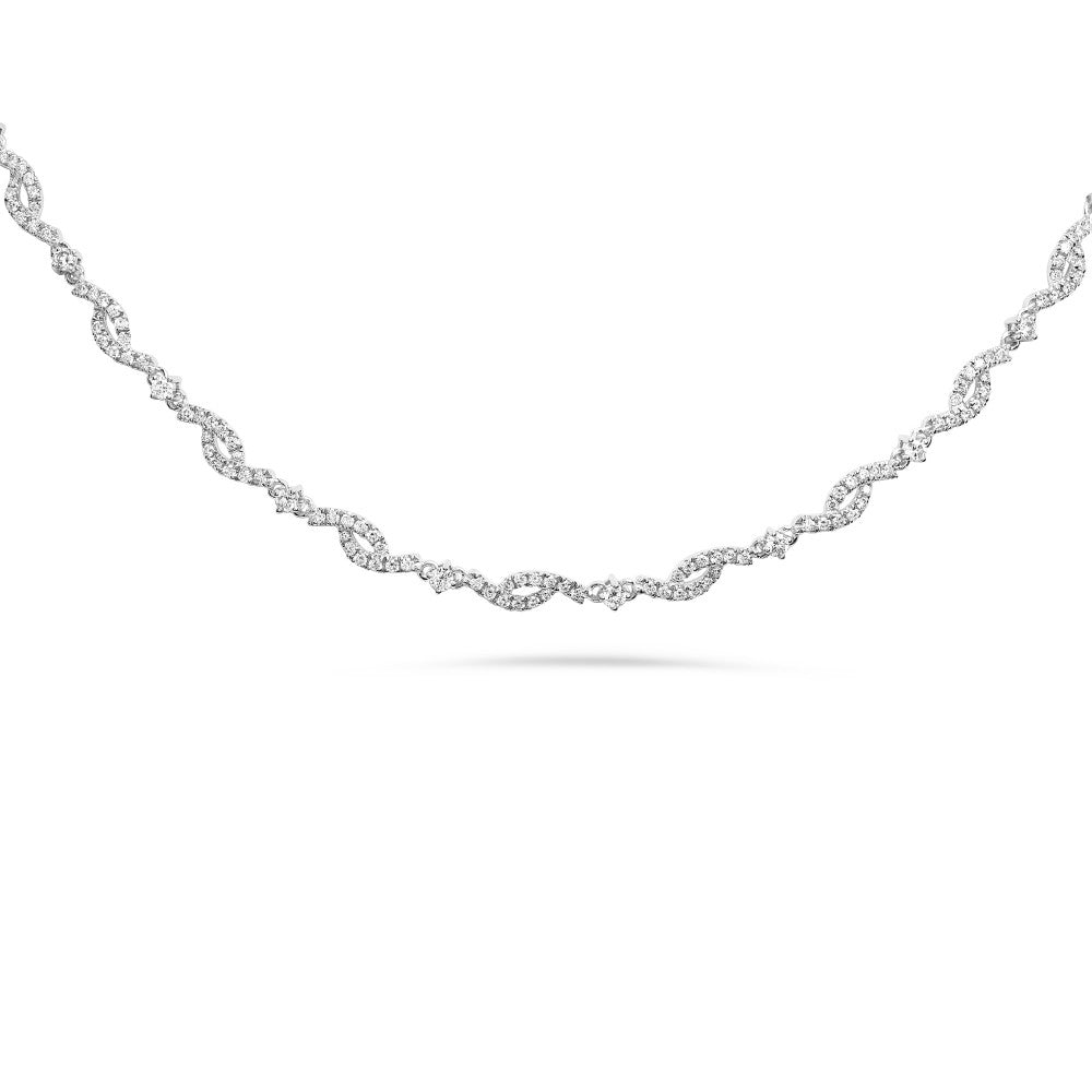 diamond rope chain necklace