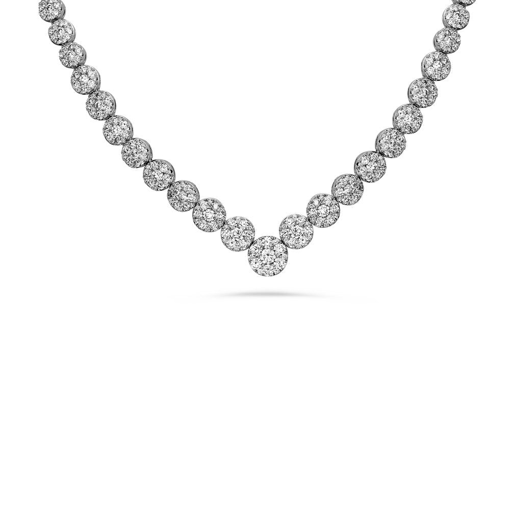 partial riviera necklace with 4+ carats diamonds