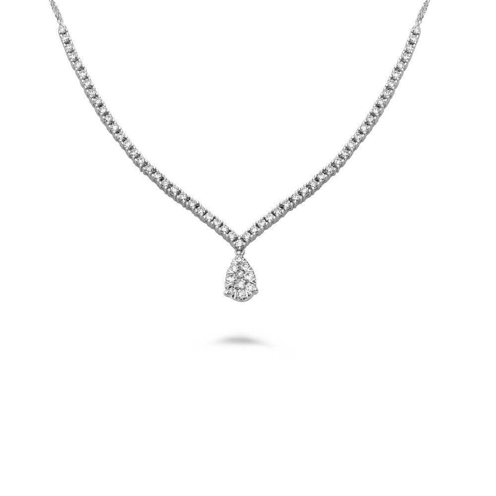 diamond adjustable slider necklace